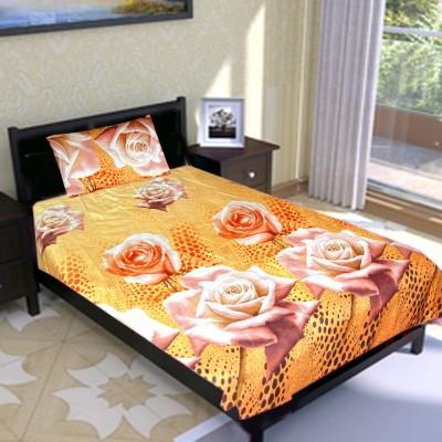 The Fancy Mart Polycotton Printed Single Bedsheet