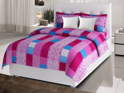 Desi Connection Cotton Striped Double Bedsheet