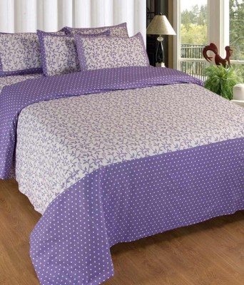 K Decor Cotton Floral Double Bedsheet