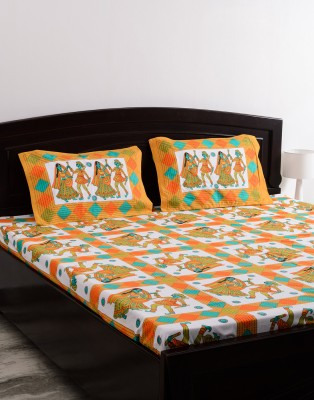 Vivid Rajasthan Cotton Floral Queen sized Double Bedsheet
