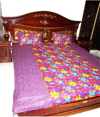 Designz Cotton Floral Double Bedsheet