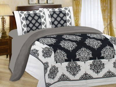 Spider Cotton Abstract Queen sized Double Bedsheet