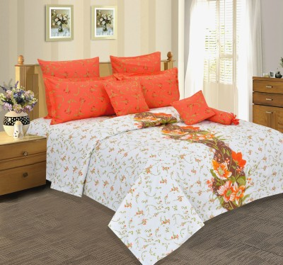 Salona Bichona Cotton Striped Double Bedsheet