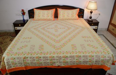 Culture Rajasthan Cotton Printed Queen sized Double Bedsheet