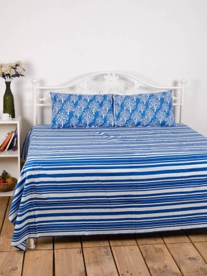 Ocean Home Store Cotton Striped Double Bedsheet