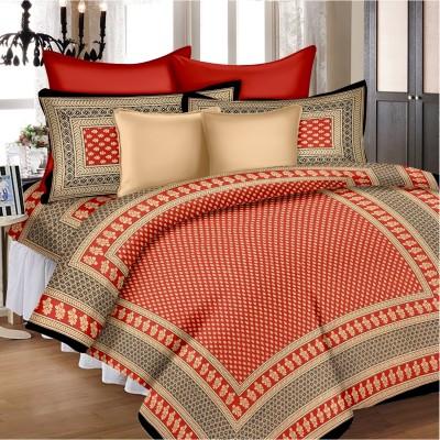 SheetKart Cotton Floral Single Bedsheet