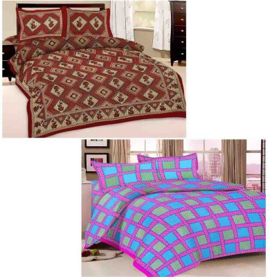 Tradition India Cotton Polka Double Bedsheet