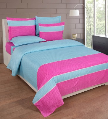 FLINT by Roschelle Polycotton Striped Double Bedsheet