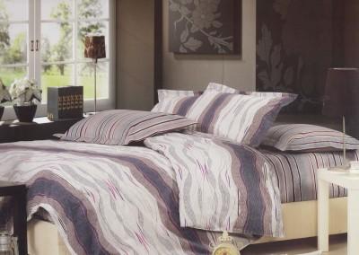 Aspire Inc Cotton Striped Double Bedsheet