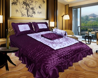 Urban Style Ethnic Raw Silk Bedding Set