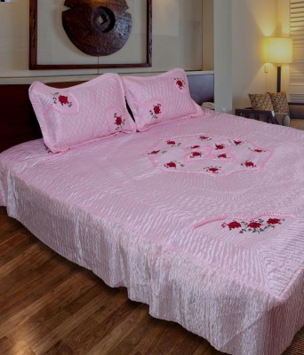Om Prints Satin Abstract Double Bedsheet