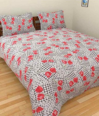 Bansal Yarn Cotton Floral Double Bedsheet