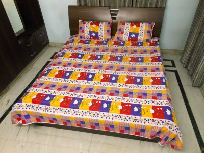stylus Cotton Floral Double Bedsheet