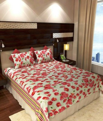 mysweethome Cotton Floral King sized Double Bedsheet