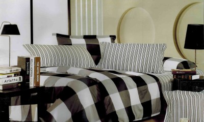 Tima Cotton Checkered Double Bedsheet
