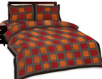 Sovam International Cotton Geometric Double Bedsheet