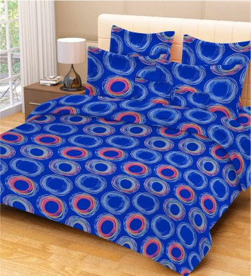 Jupiter Elite Cotton Geometric Double Bedsheet