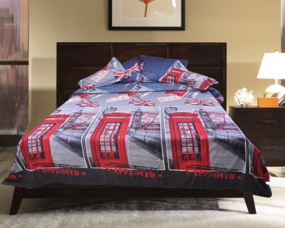 Brabuon Cotton Printed Double Bedsheet