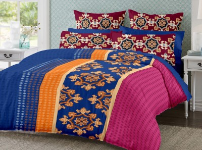 Ahmedabad Cotton Cotton, Satin Printed Double Bedsheet