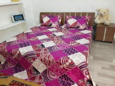 GARIMA 3 STAR Cotton Floral Double Bedsheet