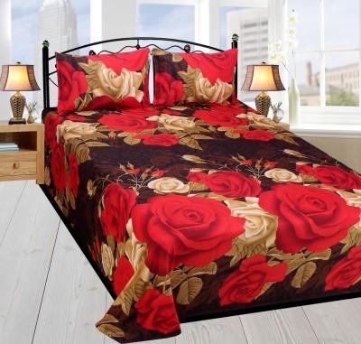 Dreamshomes Polycotton Floral Double Bedsheet