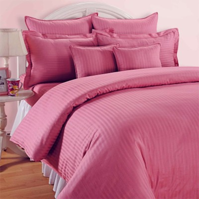 Always Plus Cotton Striped Double Bedsheet