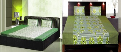 India Furnish Cotton Floral Double Bedsheet