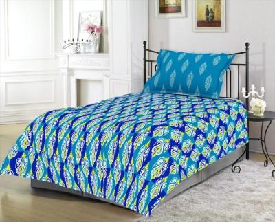 Blush Cotton Floral Single Bedsheet