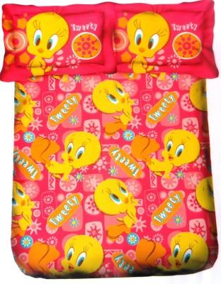 Amk Home Decor Cotton Printed Single Bedsheet