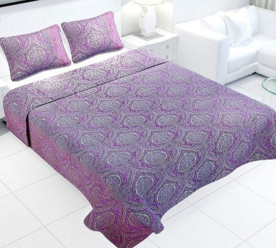 Natraj HL Cotton Linen Blend Abstract Queen sized Double Bedsheet