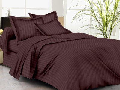 Trance Home Cotton Striped Single Bedsheet