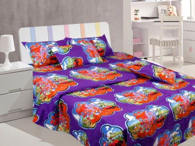 Furnishing Kingdom Polycotton 3D Printed Double Bedsheet
