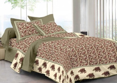 Bombay Cotton Cotton Printed Double Bedsheet