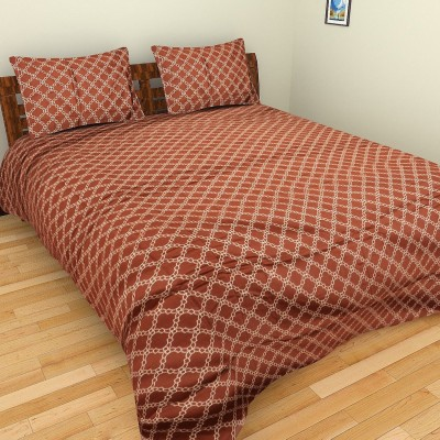 Portico New York Satin Geometric Double Bedsheet