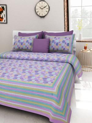 V Home Elegance Cotton Printed King sized Double Bedsheet