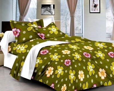 Brand Decor Cotton Floral Double Bedsheet