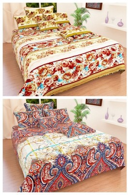 La Elite Polycotton Abstract Queen sized Double Bedsheet
