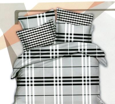 Bedsheet Cotton, Cotton Linen Blend Checkered Double Bedsheet