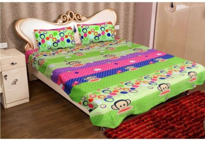 Casa Confort Polyester Printed Double Bedsheet