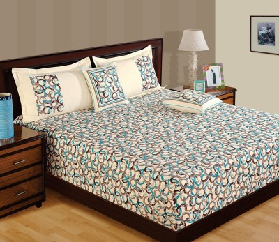 WG Fabs Cotton Abstract Queen sized Double Bedsheet