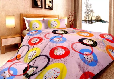 DreamFly Cotton Geometric Double Bedsheet