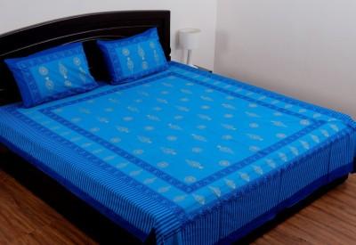 SheetKart Cotton Abstract Double Bedsheet