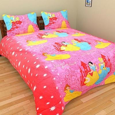 Rajkruti Cotton Cartoon King sized Double Bedsheet