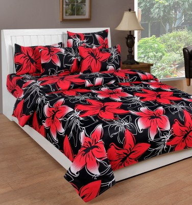 Countingbeds Cotton Floral Queen sized Double Bedsheet