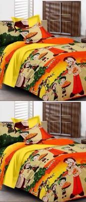 Saksham Polycotton Printed Double Bedsheet