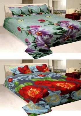 Vugis Polycotton Floral King sized Double Bedsheet