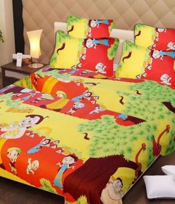 Singhs Villas Decor Cotton Cartoon Double Bedsheet