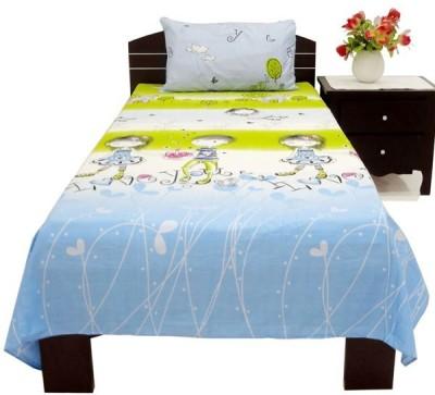 Oona Cotton Cartoon Single Bedsheet