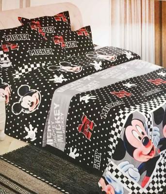 divine creations Cotton Cartoon Double Bedsheet