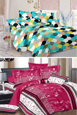 Vastra Buzz Cotton Abstract King sized Double Bedsheet